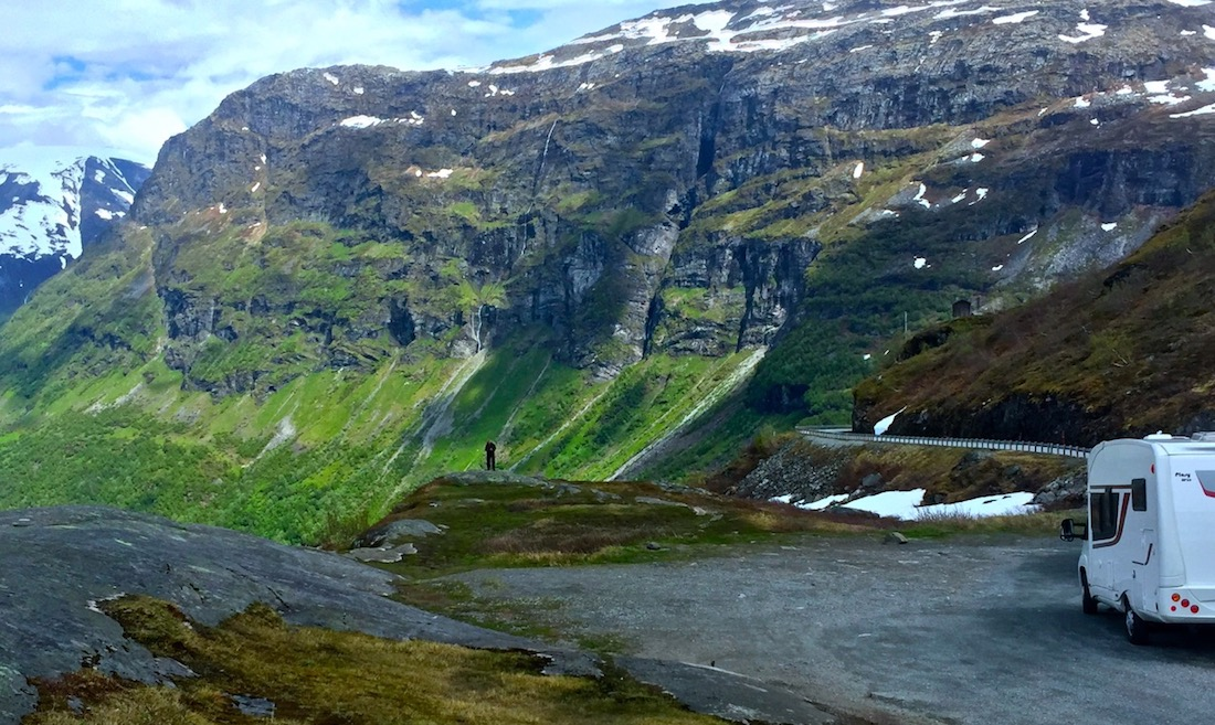 Drive Lom to Geiranger, Norway